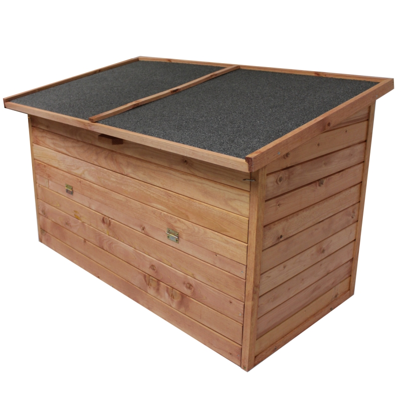 gartenbox 128x77x72cm auflagenbox holz truhe gartentruhe. Black Bedroom Furniture Sets. Home Design Ideas