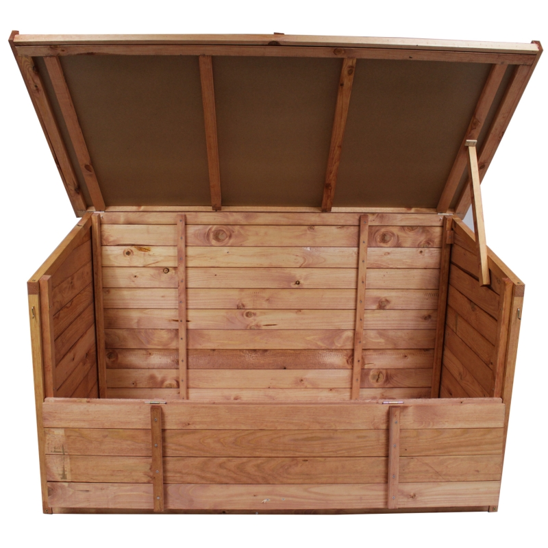 gartenbox 128x77x72cm auflagenbox holz truhe gartentruhe neu holztruhe holzkiste ebay. Black Bedroom Furniture Sets. Home Design Ideas