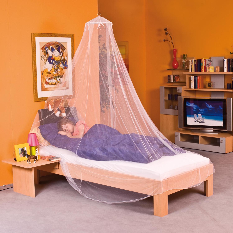moskitonetz betthimmel wei 2 2x8 5m baldachin fliegennetz reise m ckenschutz ebay. Black Bedroom Furniture Sets. Home Design Ideas