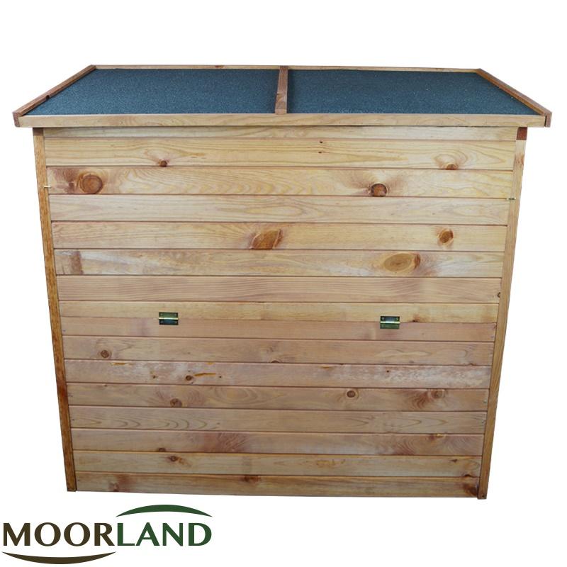 gartenbox 126x119x69 cm auflagenbox holz truhe gartentruhe holztruhe holzkiste ebay. Black Bedroom Furniture Sets. Home Design Ideas