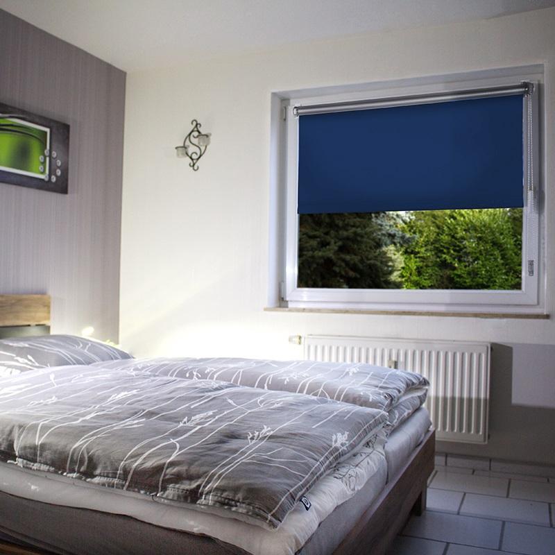 thermorollo blau klemmrollo ohne bohren klemmfix. Black Bedroom Furniture Sets. Home Design Ideas