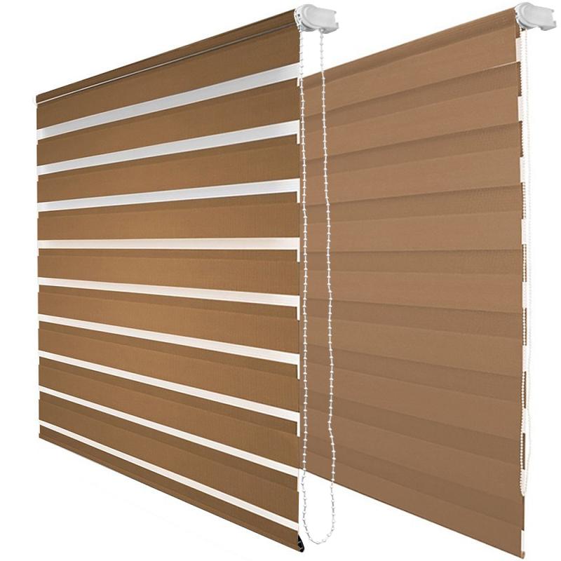 duo rollo klemmfix ohne bohren braun doppelrollo seitenzugrollo rollo t rrollo ebay. Black Bedroom Furniture Sets. Home Design Ideas