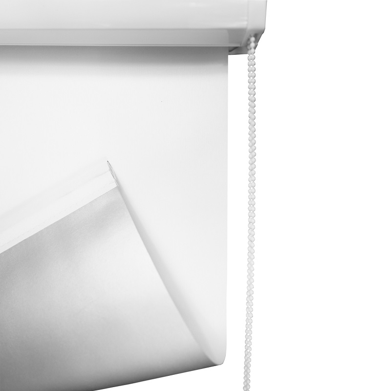 thermo rollo vollkassettenrollo wei verdunkelungsrollo mit f hrungsschienen. Black Bedroom Furniture Sets. Home Design Ideas