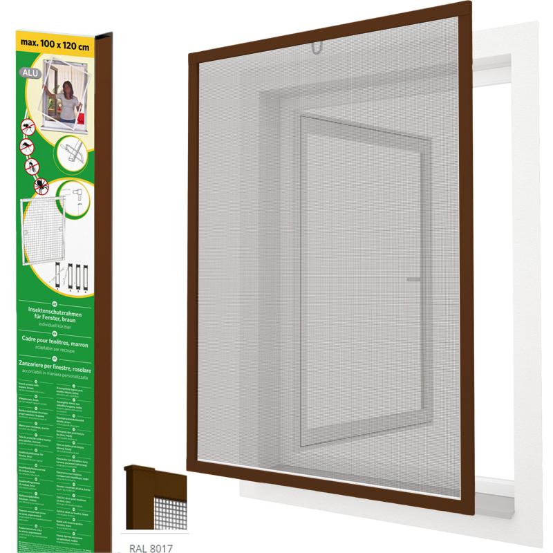 insektenschutz fenster alu rahmen 100x120 120x140 fliegengitter bausatz gaze ebay. Black Bedroom Furniture Sets. Home Design Ideas