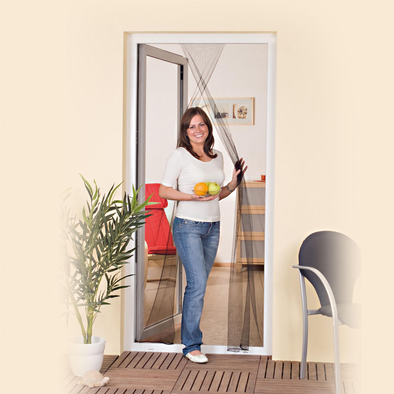 insektenschutz t r 110x210cm lamellenvorhang vorhang fliegengitter m ckenschutz ebay. Black Bedroom Furniture Sets. Home Design Ideas