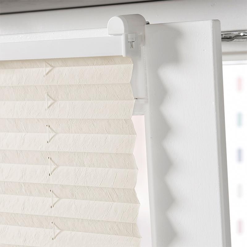 fenster plissee auch zum klemmen faltrollo jalousie rollo plissees crush stoff ebay. Black Bedroom Furniture Sets. Home Design Ideas