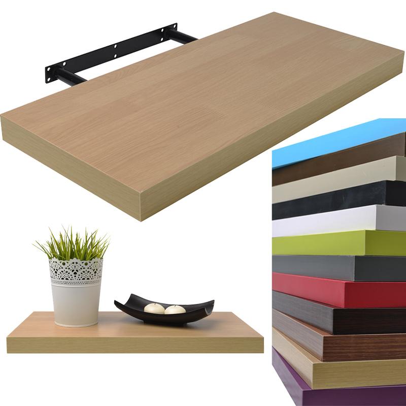 wandregal 75x22 8 cm h ngeregal b cherregal wandboard. Black Bedroom Furniture Sets. Home Design Ideas