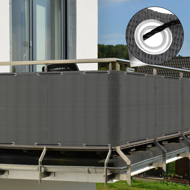 balkon sichtschutz zaun windschutz balkonsichtschutz balkonumspannung kunststoff ebay. Black Bedroom Furniture Sets. Home Design Ideas