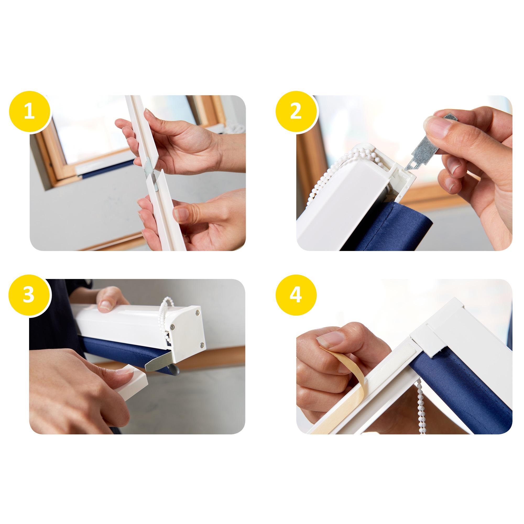 Präferenz Kassettenrollo Thermorollo Verdunkelungsrollo ohne Bohren Fenster  UP15