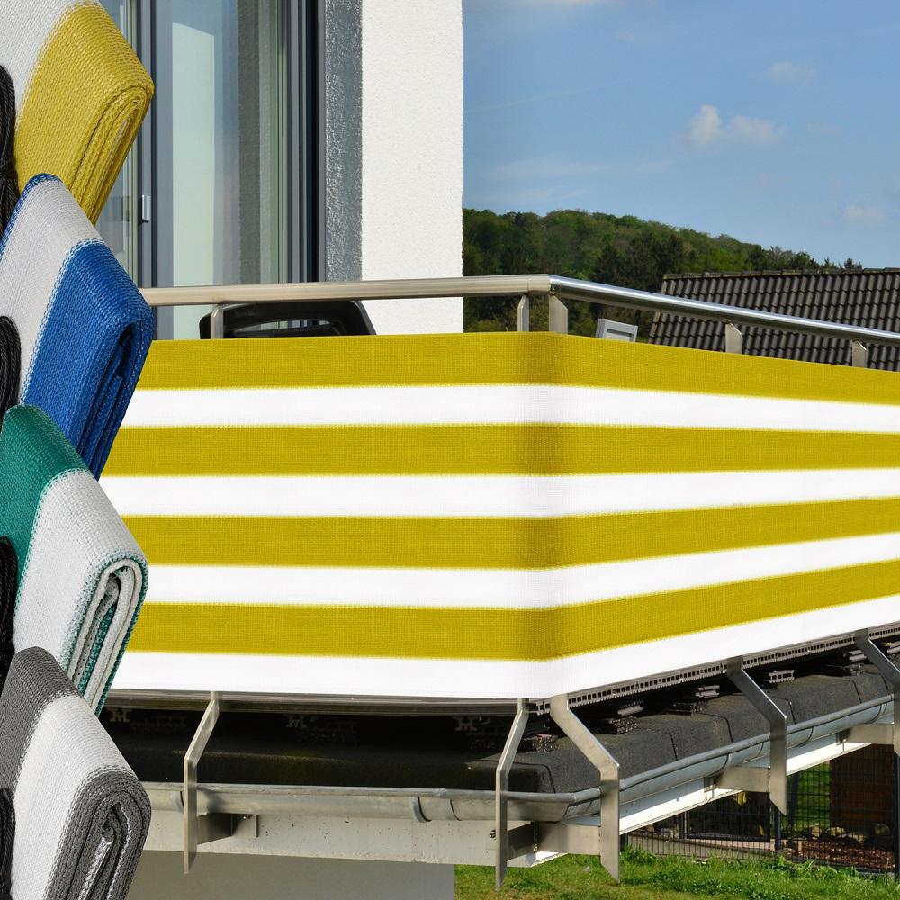 balkonsichtschutz 500x90 balkonverkleidung balkonumspannung balkon sichtschutz ebay. Black Bedroom Furniture Sets. Home Design Ideas