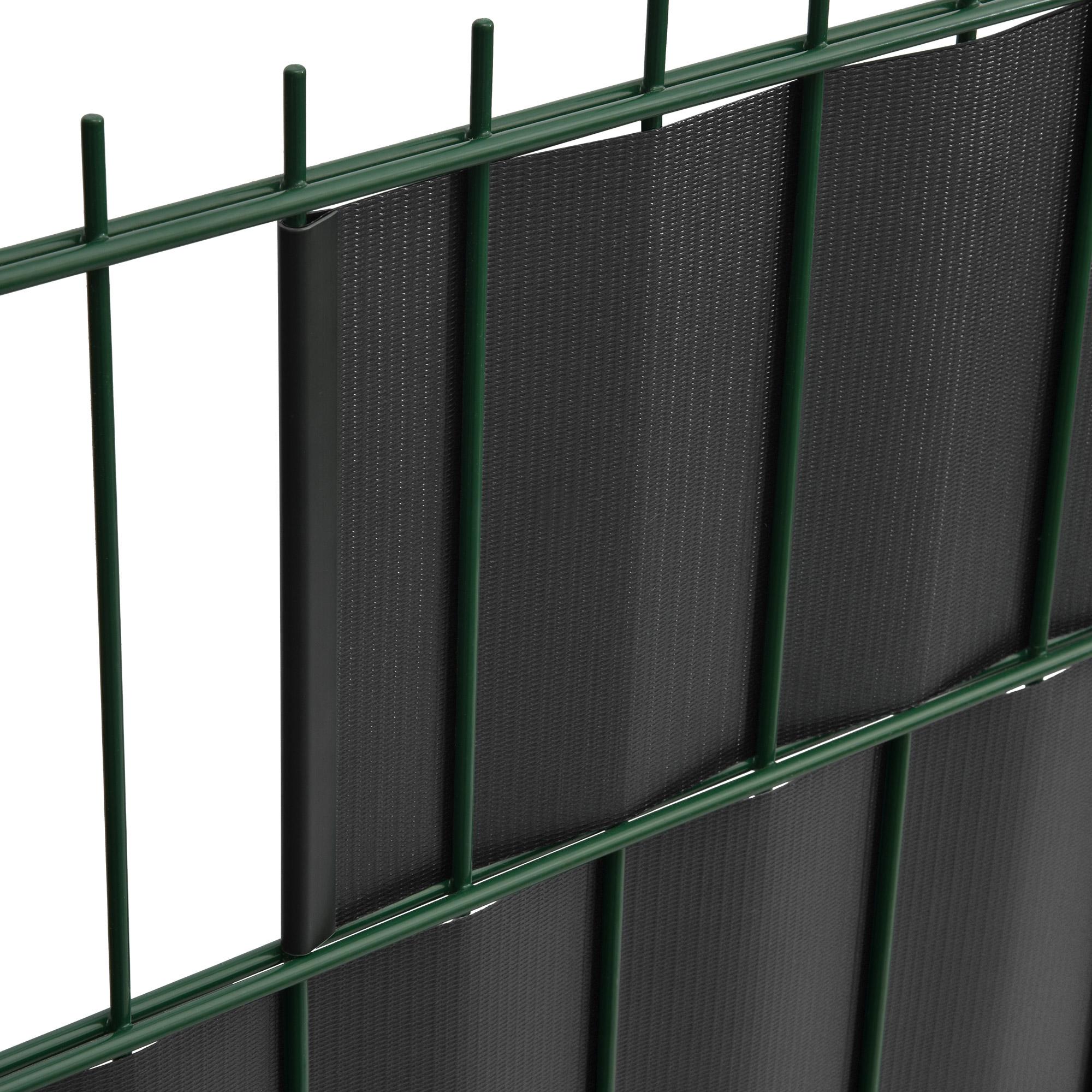 pvc sichtschutzstreifen 35m rolle sichtschutz f r doppelstabmatten zaunfolie ebay. Black Bedroom Furniture Sets. Home Design Ideas