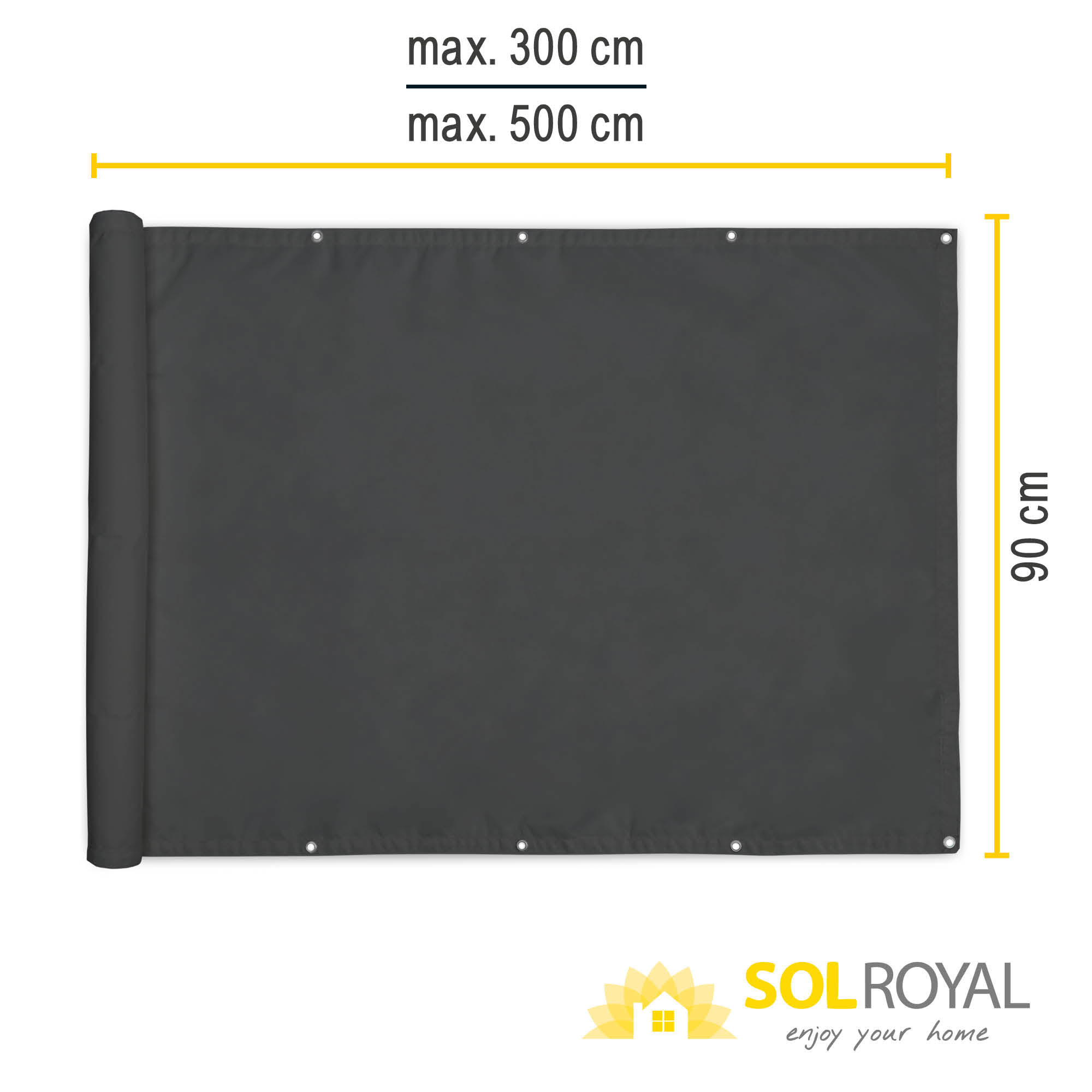 Balkon Sichtschutz Balkonsichtschutz Zaun Windschutz Balkonumspannung PES Matte