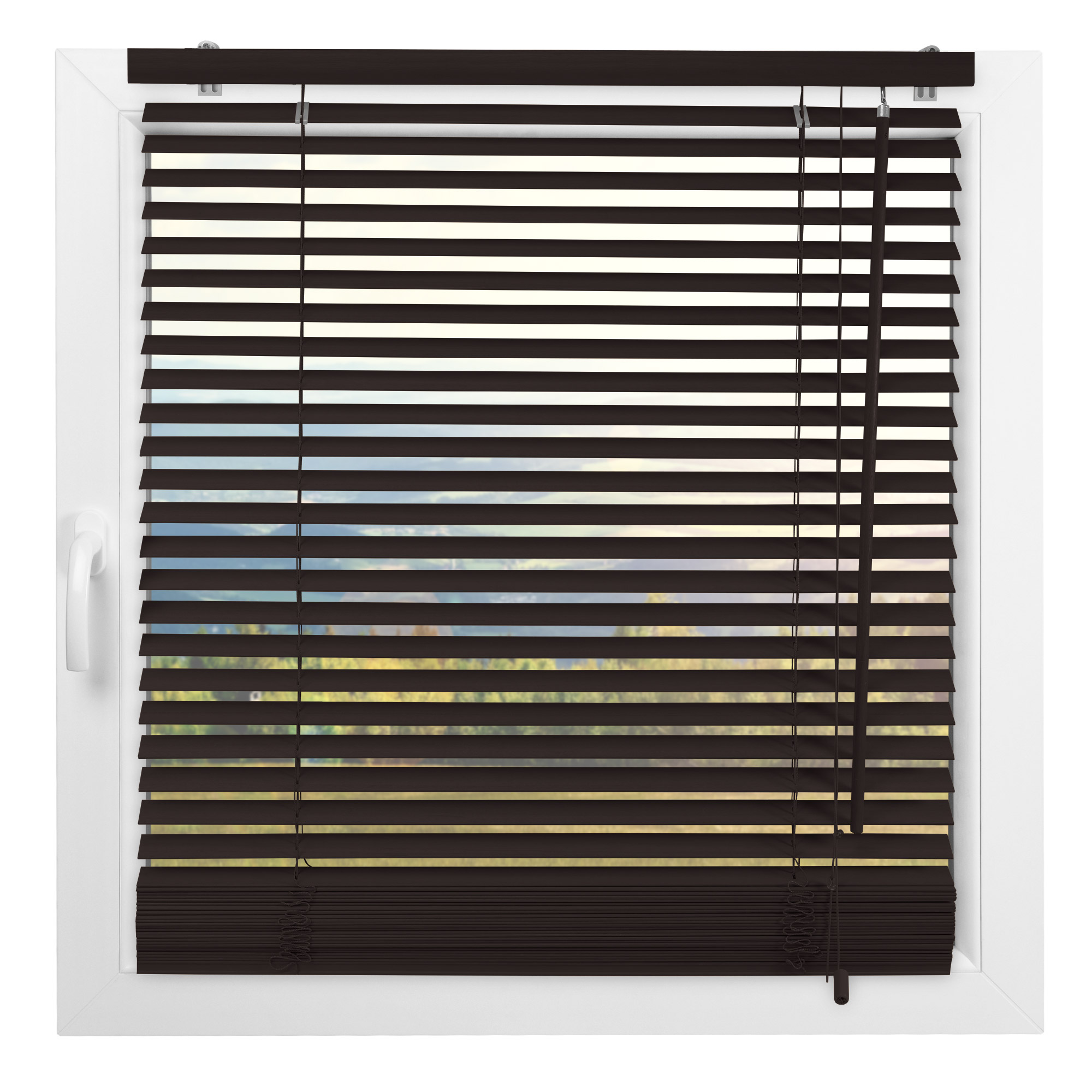 Indexbild 12 - Jalousie Fenster Tür Rollo Jalousette Schalusie Vorhang Schnurzug Jalusie Holz